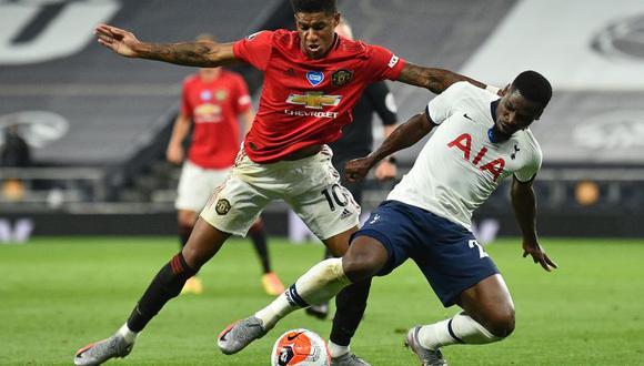 Manchester United igualó en el campo del Tottenham Hotspur, en partido por la Premier League. (Foto: AFP)