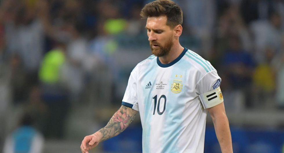 Lionel Messi tras la derrota ante Brasil. (Foto: AFP)
