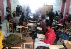 Sullana: 26 alumnos recibían clases presenciales en academia premilitar y prepolicial   FOTOS