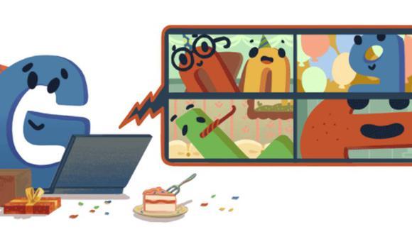 Google celebra su 22° aniversario con un reflexivo doodle sobre las celebraciones desde casa. (Google).