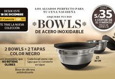 BOWLS DE ACERO INOXIDABLE, el utensilio de cocina más práctico para el hogar en esta navidad.