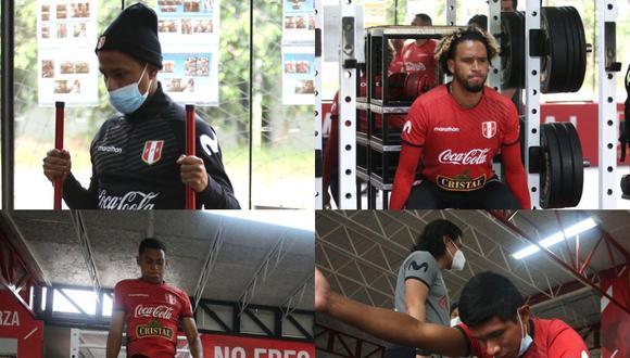 Seis seleccionados nacionales entrenan bajo las órdenes del comando técnico de Ricardo Gareca en la Videna de San Luis. (Foto: FPF)