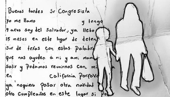 Luisa escribió una carta recientemente dirigida a un congresista estadounidense. (KAKO ABRAHAM PARA BBC MUNDO/GETTY).