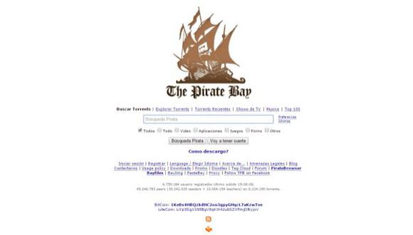 """Francia bloquea la web de descargas """"The Pirate Bay"""""""