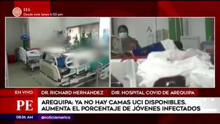 Arequipa: 12 pacientes en espera de camas UCI en hospital Honorio Delgado
