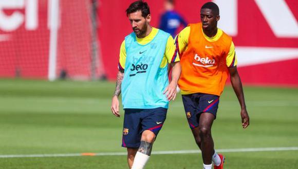 Lionel Messi se entrenó con normalidad, pensando en la llave de cuartos de final de la Champions League. (Foto: FC Barcelona)