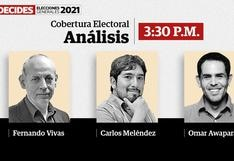 Carlos Meléndez, Omar Awapara y Fernando Vivas analizaron en El Comercio la jornada electoral