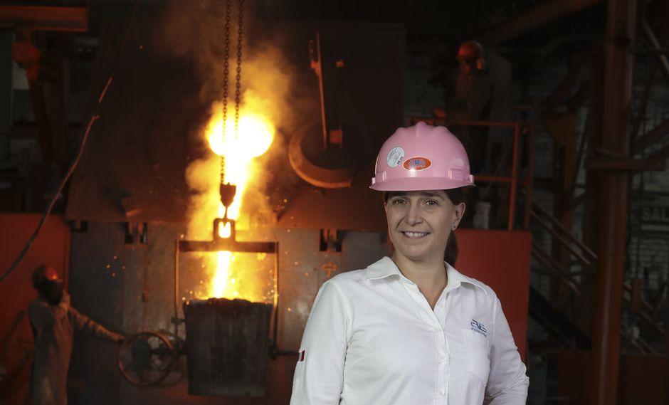 Naima Montiel, gerenta general de fundición Ferrosa (Foto: Juan Ponce)