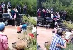 Huánuco: tres desaparecidos y 25 heridos tras caída de bus al río Huallaga