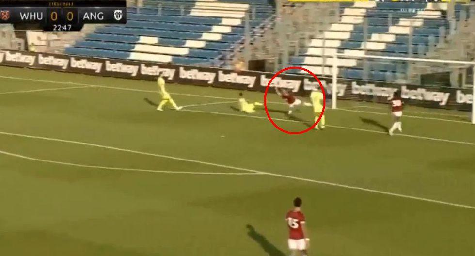 'Chicharito' Hernández y su intacto olfato goleador: marcó en amistoso con el West Ham. (Foto: Captura de pantalla)
