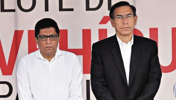 Zeballos y Vizcarra dijeron que los cambios ministeriales no estuvieron relacionados a la demanda de Odebrecht. (Foto: Anthony Niño de Guzmán /GEC)