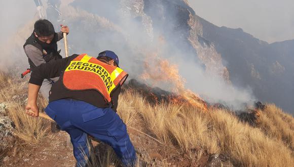 Cusco: Cinco incendios simultáneos amenazan la región y solicitan ayuda de helicópteros (Foto: Juan Sequeiros)
