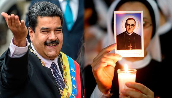 El presidente Nicolás Maduro utilizó su cuenta en Twitter para celebrar la canonización de monseñor Romero. (Foto: AFP/Reuters)
