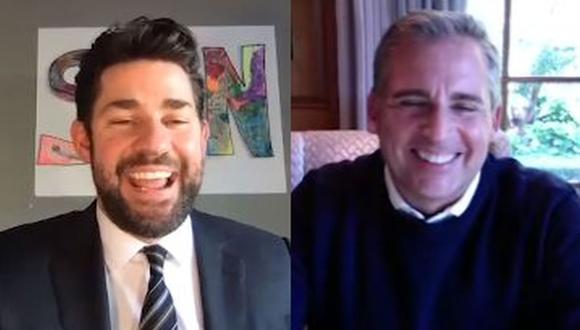 """John Krasinski entrevistó a Steve Carell y recordaron anécdotas de """"The Office"""". (Foto: Captura de video)"""