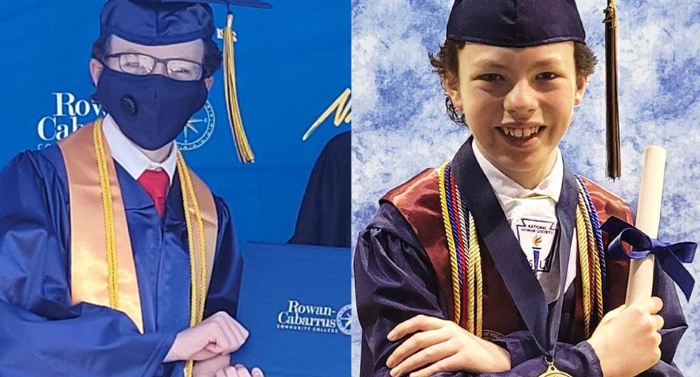 12-year-old graduates from high school and college in just one week