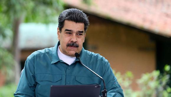 """El presidente venezolano, Nicolás Maduro, dijo este martes que Venezuela estuvo 14 meses """"sin vender una gota de petróleo"""" y culpó a las sanciones de Estados Unidos. (Foto: AFP)"""