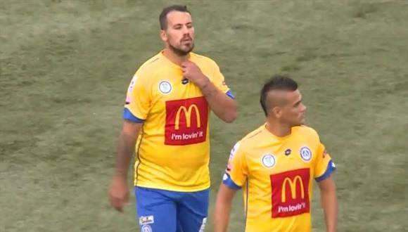 La prensa panameña quedó asombrada al ver el deplorable estado físico de Cristian Fabbiani en su debut con CD Universitario. Los comentarios se han hecho virales a través de YouTube. (Foto: captura de video)