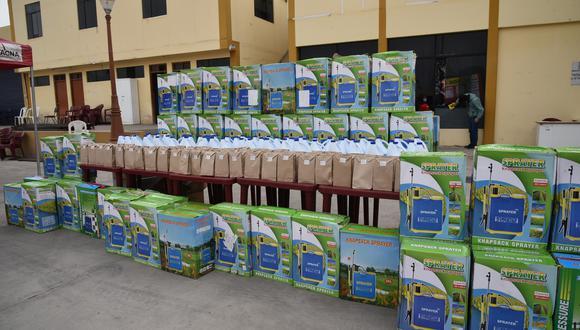 Tacna: entregan mochilas con implementos de desinfección a juntas vecinales (Foto: Municipalidad Provincial de Tacna).