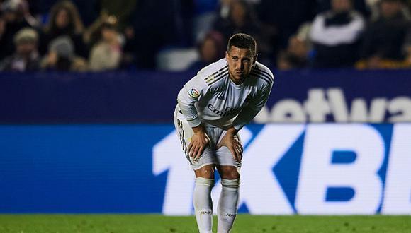 A la constantes lesiones, se suma la poca efectividad de los delanteros de Real Madrid. Según la plantilla oficial del club son 10 jugadores que ocupan esa posición. Eden Hazard ha marcado 1 gol y dado 5 asistencias en 15 partidos esta temporada. (Getty Images)