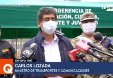 Ministro Lozada explica las consecuencias de incumplir protocolos de seguridad del COVID-19