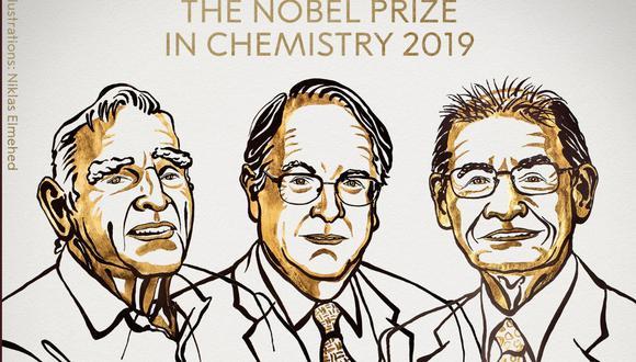 John B. Goodenough, M. Stanley Whittingham and Akira Yoshino, ganan el Nobel de Química 2019. (Foto: NPA)