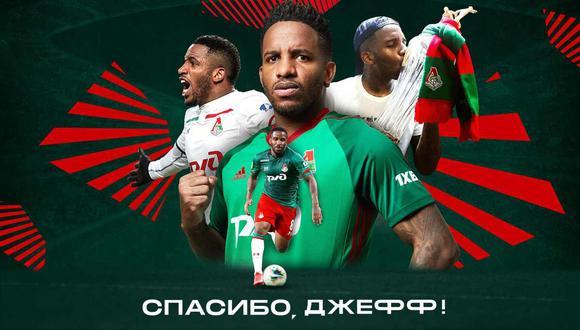 Lokomotiv Moscú se despide de Jefferson Farfán. (Foto: @fclokomotiv)