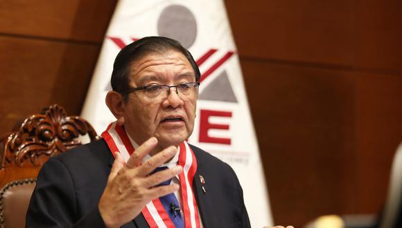 Jorge Salas Arenas, presidente del JNE, pidió ir a votar de manera ordenada el 11 de abril. (JNE)