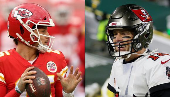 Chiefs y Buccaneers se enfrentan este domingo por el Super Bowl LV. (Fotos: AFP)