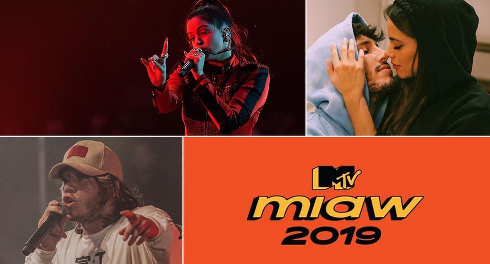 Nominados a los MTV MIAW 2019. (Fotos: Difusión)