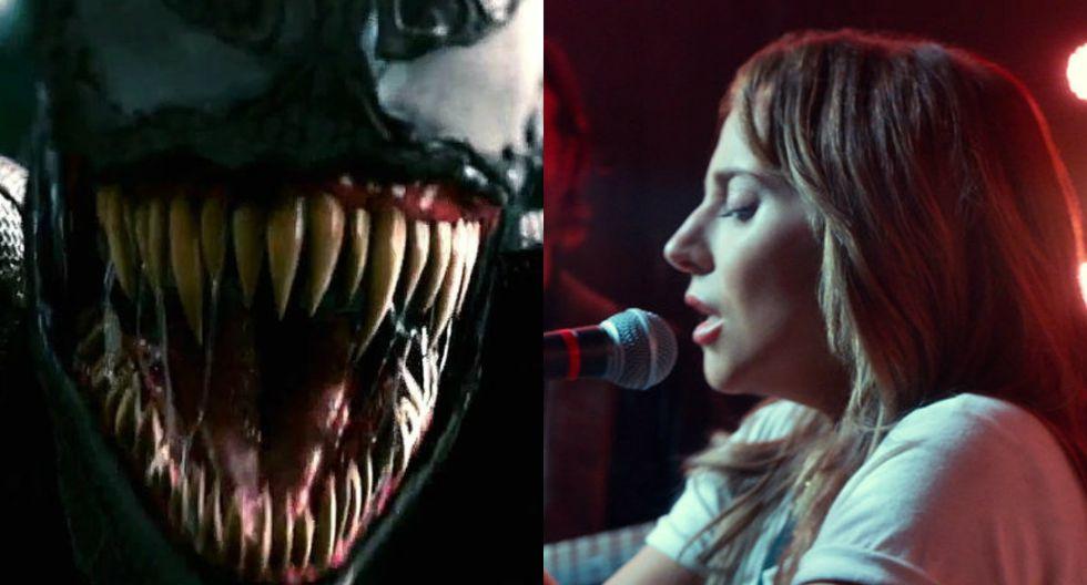 """Venom"" vs. ""A Star Is Born"" (Foto: Difusión)"