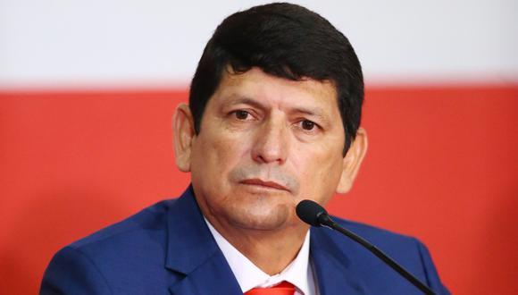 Agustín Lozano se refirió a la suspensión de la Liga 1. (Foto: GEC)