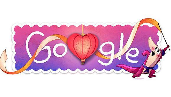 Google tardó un año para crear su doodle por San Valentín