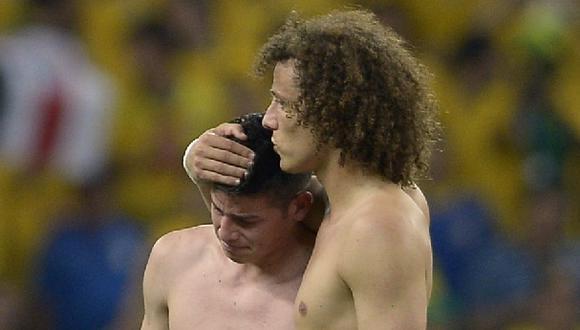 "David Luiz a James Rodríguez por Twitter: ""Eres un campeón"""