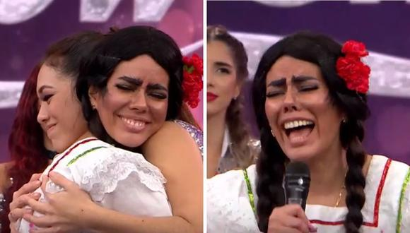 """La Pánfila"" agradeció la oportunidad de estar en ""Reinas del Show"". (Foto: Captura América TV)"