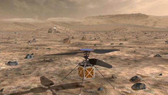 El helicóptero está siendo desarrollado por el Laboratorio de Propulsión a Chorro de la NASA en el sur de California. (Foto: NASA)