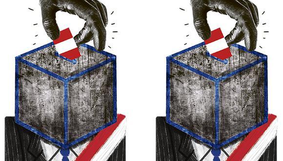 """El presidente de la Comisión de Constitución, Omar Chehade (Alianza para el Progreso, Lima), sostuvo que se realizó el mayor esfuerzo para garantizar unas """"elecciones justas, transparentes y sobre todo sanitarias"""". (Ilustración: Giovanni Tazza/El Comercio)"""