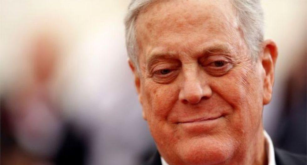 Koch se postuló una vez a la presidencia de Estados Unidos. Foto: Reuters, vía BBC Mundo