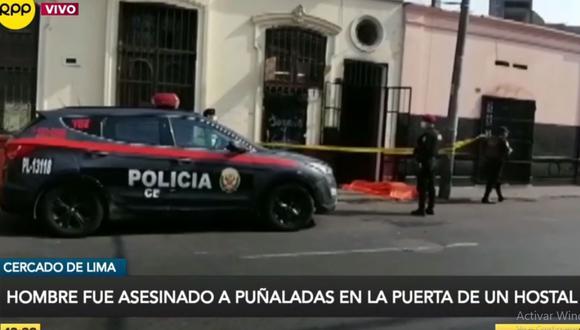 El hombre fue asesinado a puñaladas tras discutir con otra persona. (Foto: RPP Televisión)