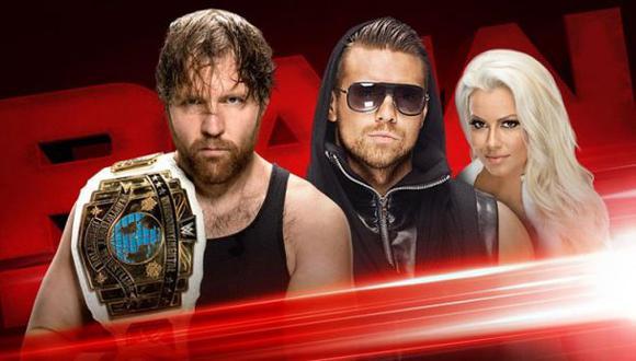 WWE Raw se llevó a cabo este lunes en el Prudential Center de Nueva Jersey. Dean Ambrose y The Miz fueron protagonistas. (Foto: WWE)
