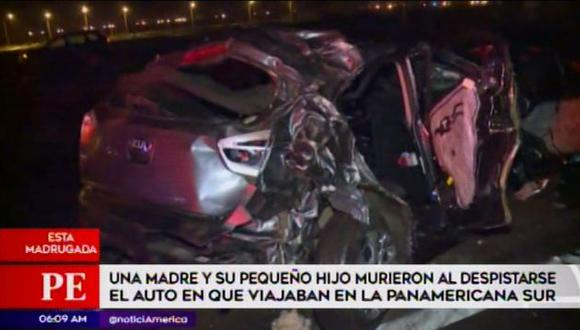 Accidente dejó dos muertos. (Foto: Captura/América Noticias)