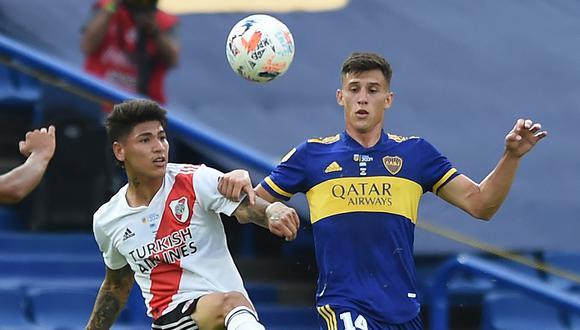 Boca Juniors no pudo de local ante River Plate y terminó empatando 1-1 por la quinta fecha de la Liga Profesional. (Foto: AFP)