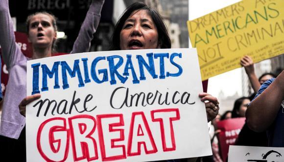 """Senadores de Estados Unidos llegaron a un acuerdo para abrir vía a ciudadanía a los """"dreamers"""". (Foto: AFP/Jewel Samad)"""