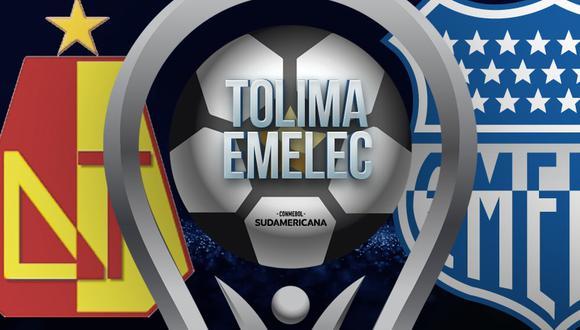 Deportes Tolima vs. Emelec EN VIVO: cómo y dónde VER GRATIS el partido por la Copa Sudamericana