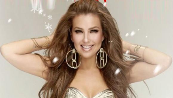 """Thalía lanza una """"Feliz Navidad"""" bilingüe y al son del merengue electrónico. (Foto: @thalia)"""