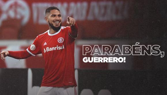 Paolo Guerrero es el máximo artillero de la selección peruana, con 39 goles. (Foto: SC Internacional)
