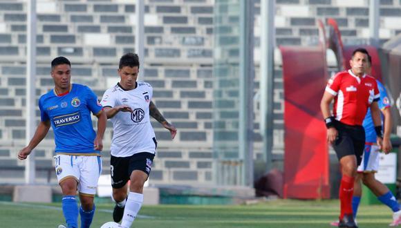 Colo Colo sacó adelante el partido frente a Audax Italiano de local. Gabriel Costa jugó 90+5 minutos. (Foto: @adnradiochile)