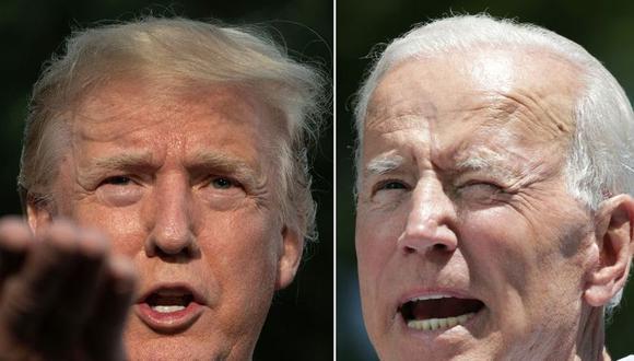 Donald Trum y Joe Biden. (AFP).