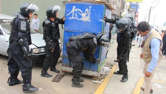 El operativo, liderado por el alcalde David Rojas Maza, estuvo a cargo del Grupo de Operaciones Especiales (GOES) de San Luis. (Difusión)