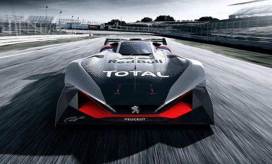 Peugeot presenta superdeportivo para videojuego Gran Turismo.