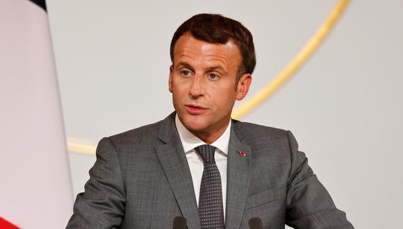 El presidente de Francia, Emmanuel Macron, felicitó al mandatario electo del Perú, Pedro Castillo, por su victoria en las Elecciones Generales 2021. (Foto: Ludovic Marin / Reuters)